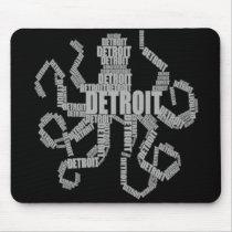 Detroit Octopus Art Mouse Pad