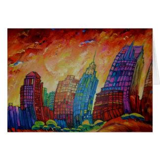 Detroit on the Rocks I - Greeting Card
