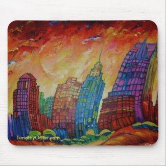 Detroit on the Rocks I Mousepad mousepad