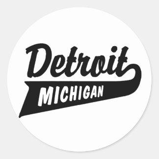 Detroit Pegatina Redonda