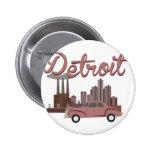 Detroit Pin Redondo De 2 Pulgadas
