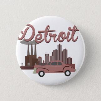 Detroit Pinback Button