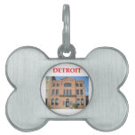 Detroit Placa De Nombre De Mascota