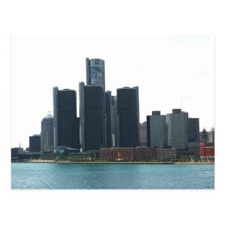 Detroit postal del horizonte del MI