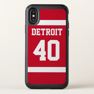 Detroit Red and White iPhone Case