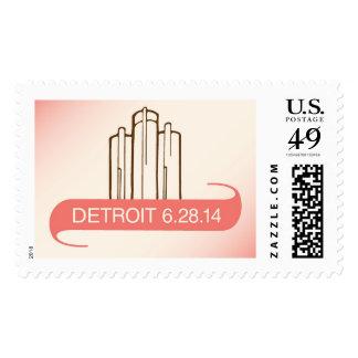 Detroit Renaissance Center Wedding Stamp