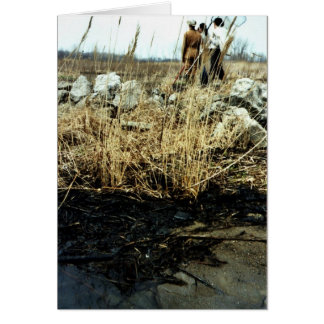 Detroit River Oil Spill Damage Greeting Card