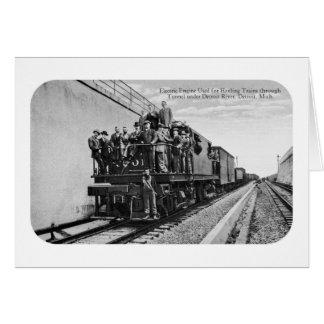 Detroit River Railroad Tunnel Card