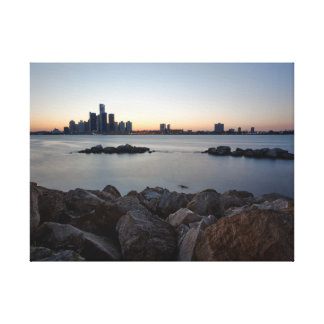 Detroit River Skyline Canvas Print