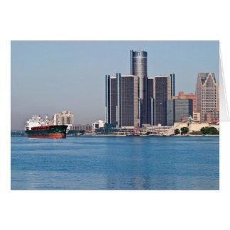 Detroit River Skyline Card