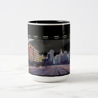Detroit - Road to Recovery after Auto Bailout Two-Tone Coffee Mug