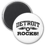 Detroit Rocks 2 Inch Round Magnet