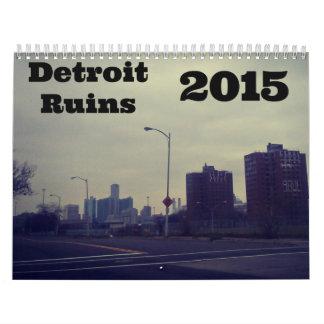 Detroit Ruins 2015 Calender Calendar