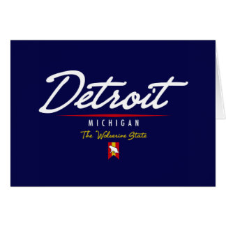 Detroit Script Stationery Note Card