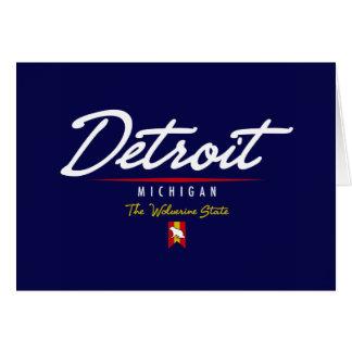 Detroit Script Card