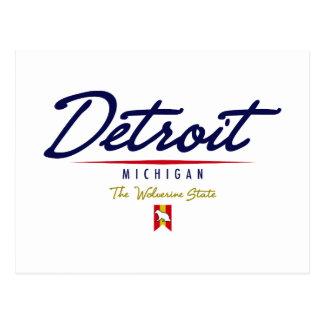 Detroit Script Postcard