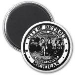 Detroit Seal 2 Inch Round Magnet