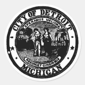 Detroit Seal Classic Round Sticker
