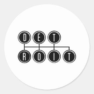 Detroit Shifter Round Sticker