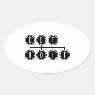Detroit Shifter Oval Sticker