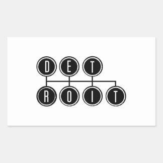 Detroit Shifter Rectangular Sticker