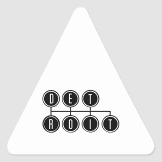 Detroit Shifter Triangle Sticker