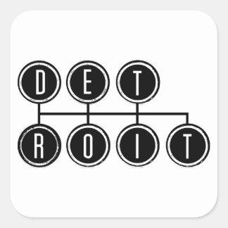 Detroit Shifter Square Sticker