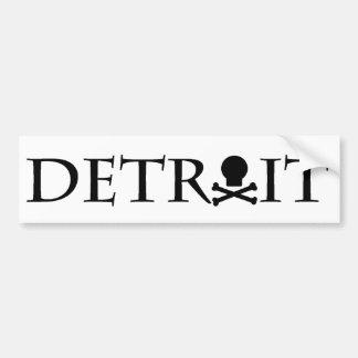 Detroit Skull Bumper Sticker Car Bumper Sticker