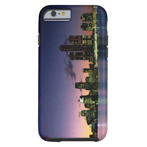 Detroit Skyline at Dusk 2 Phone Case
