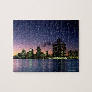 Detroit Skyline at Dusk 2 Puzzle