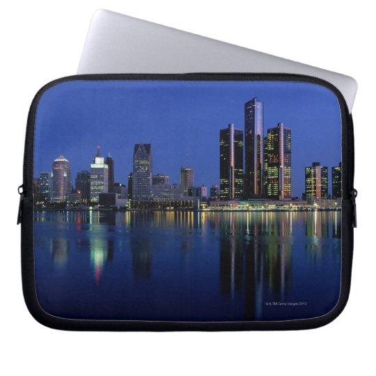 Detroit Skyline at Night Computer Sleeve