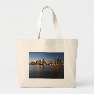 Detroit Skyline Canvas Bags