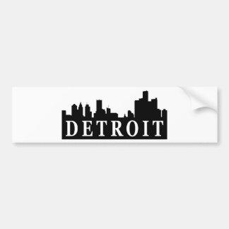 Detroit Skyline Car Bumper Sticker