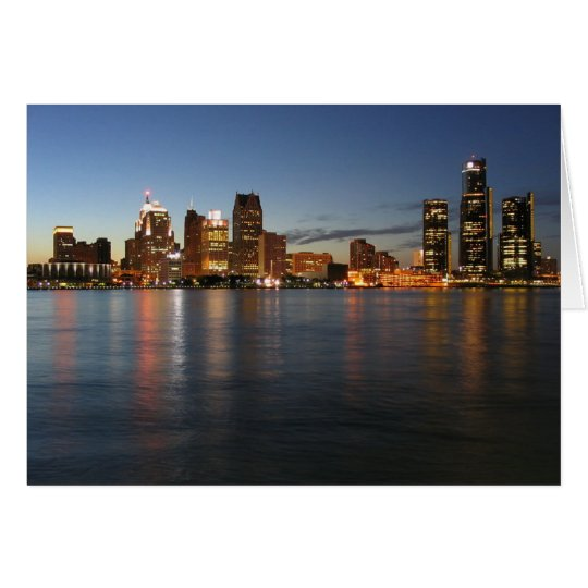 Detroit Skyline Card