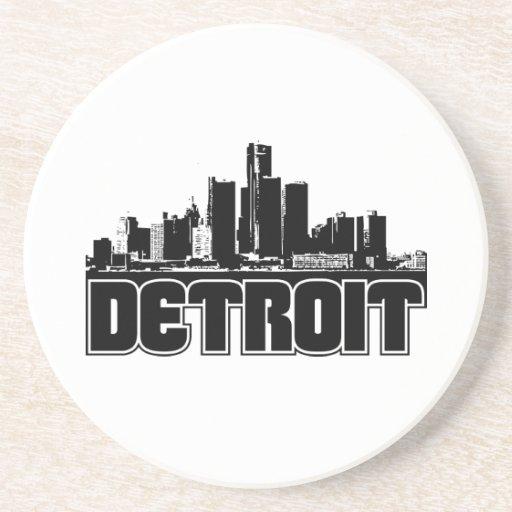 Detroit Skyline Drink Coaster