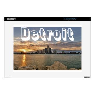 "Detroit Skyline Decal For 15"" Laptop"