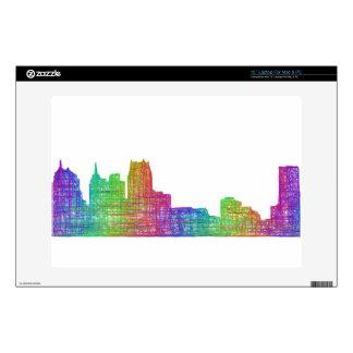 Detroit skyline decal for laptop