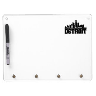 Detroit Skyline Dry Erase Board