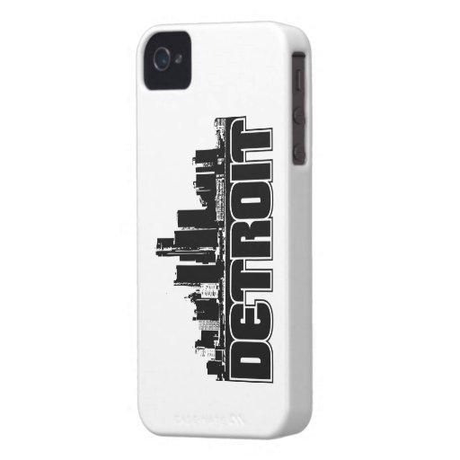 Detroit Skyline iPhone 4 Case-Mate Cases