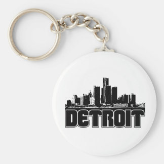 Detroit Skyline Keychain