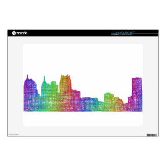 Detroit skyline laptop decal