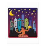 Detroit Skyline Mega Color Post Cards