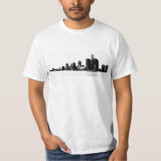 Detroit Skyline Photo Tshirt