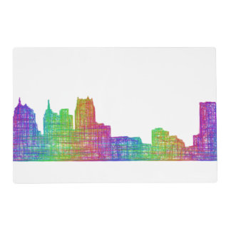 Detroit skyline placemat
