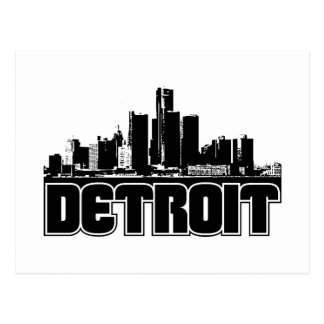 Detroit Skyline Postcard