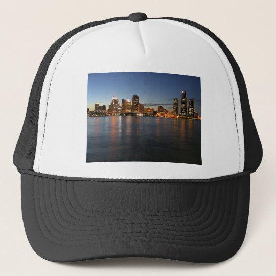 Detroit Skyline Trucker Hat