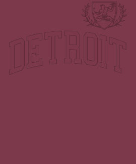 Detroit Soccer Crest Tee Shirts