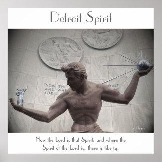 Detroit Spirit (poster) Poster