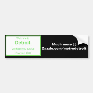 Detroit sticker, Much more @Zazzle.com/metrodet... Bumper Sticker