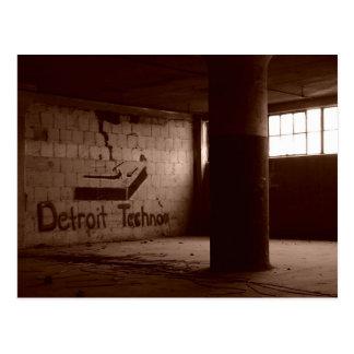 Detroit Techno (postcard)